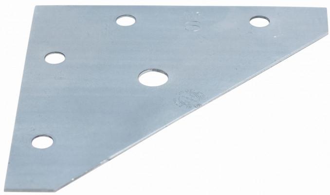 Corner plate, 98 mm, zinc