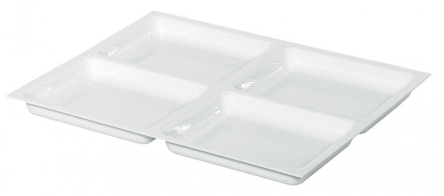 Drawer insert, shallow, variant-d, 2.5 mm material thickness,with 4 compartments