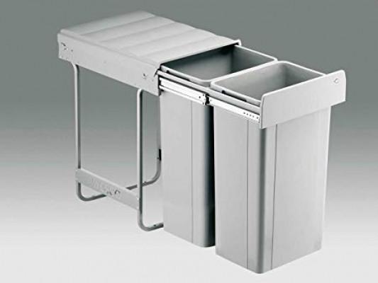Bio big waste bin, CW=400 mm, 52 litre (2x26 litre), double recycler , WESCO, grey