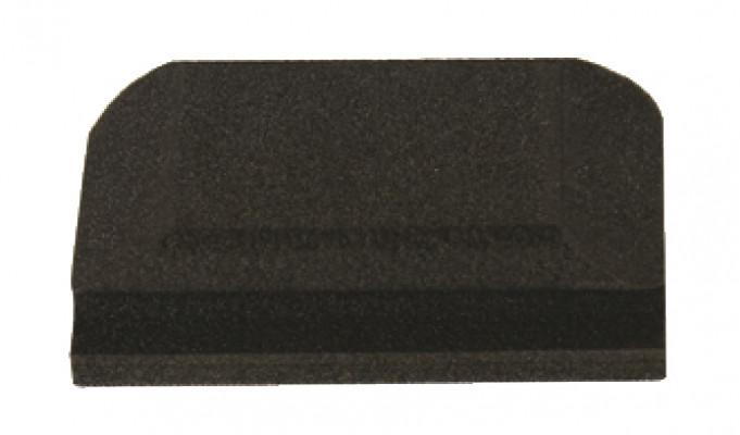 sanding block, black gel foam, 70x125 mm, mirka, suits for velcro backed sanding strips,