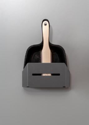 LIBELL dustpan & brush holder, PEKA, anthracite