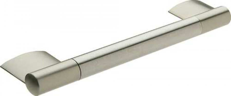 Bar handle, stainless steel bar with zinc alloy feet, fixing centres 224 mm, Bayswater