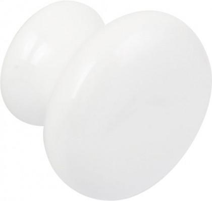 Knob, ceramic, ø 38 mm, iris, white
