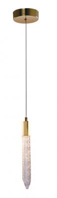 LED ceiling pendant, adjustable, IP20, 1 Light, Shard, mains voltage, gold