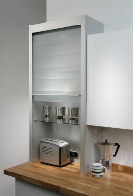 Glass Tambour Door Unit 600 x 1283 x 332mm