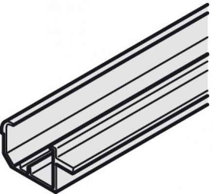 Top track, groove mounting, for sliding cabinet doors, slido classic, top hung, L=3500 mm