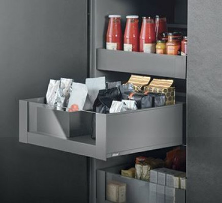 LEGRABOX Pre-assembled, inner NL=300mm, height C (193mm),CW=700mm,hi glass frnt orion grey