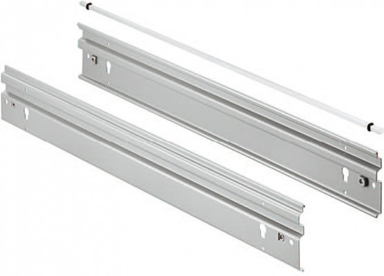 Front & rear panels, variant-s +, silver coloured RAL 9006 , hanging dim. 490 mm