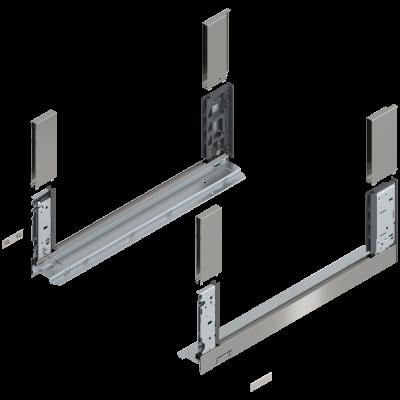 LEGRABOX free drawer side, height C (177 mm), NL=500 mm, left+right, stainless steel
