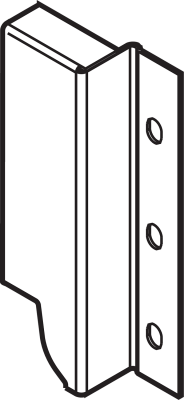 ANTARO/TANDEMBOX back fixings bracket, height K (129 mm), left, metalic grey
