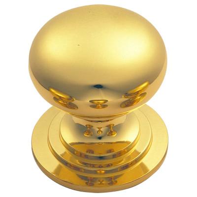 Victorian knob (one piece), 42 mm, brass