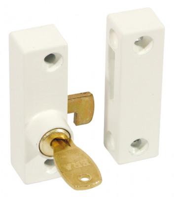Flush Pivot Lock With Cut Key Wht