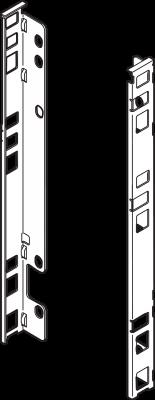 LEGRABOX back fixings bracket, height F (257 mm), left+right, orion grey