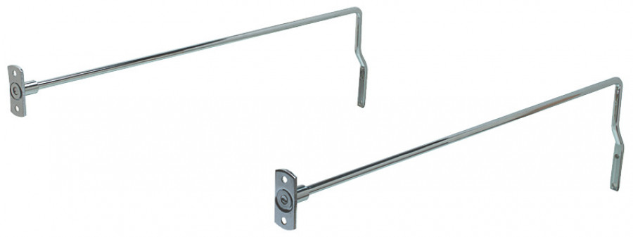 Filing rails, for drawer length 450 mm, screw fixing, chrome