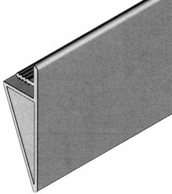 Top trim, for tambour doors, 65x18 mm -stainless steel