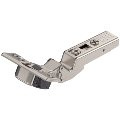 CLIP top BLUMOTION angled hinge 110° for -45° application, OVERLAY, boss: SCREW-ON, nickel