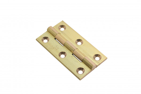 "Broad butt hinge, 2""x1 1/8"", brass, self colour"