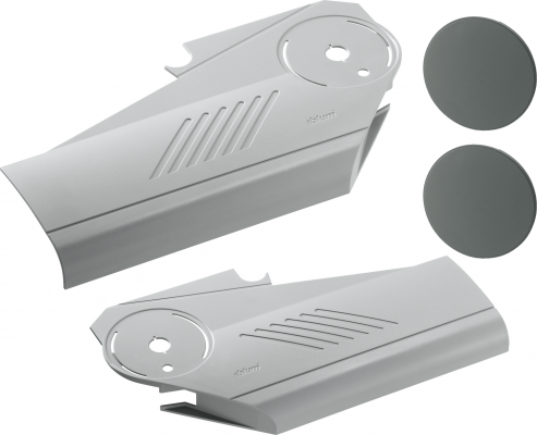 AVENTOS HS Lever Arm Cover Caps left+right, grey