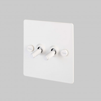 toggle switch, 2 gang