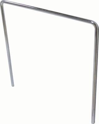 Record divider bar, steel, 175x175 mm, › 5 mm bar, zinc