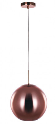 Ceiling pendant, small, Ø 300 mm, Oberon, mains voltage, copper