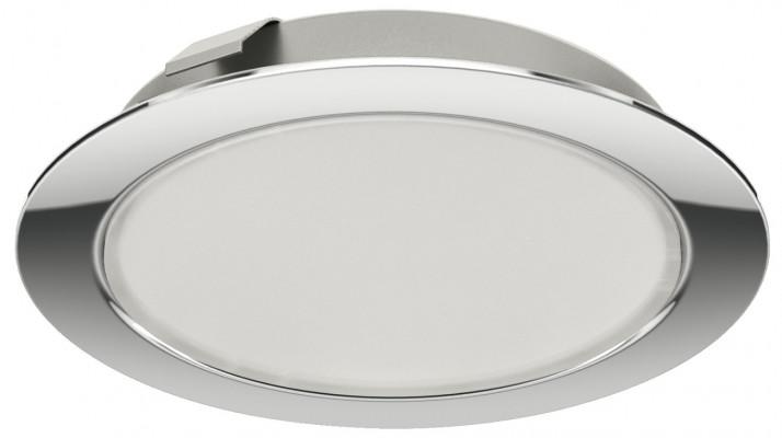 LED downlight 12 V, Ø 65 mm, IP20, packed set, Loox LED 2047, chrome, warm white 3000 K