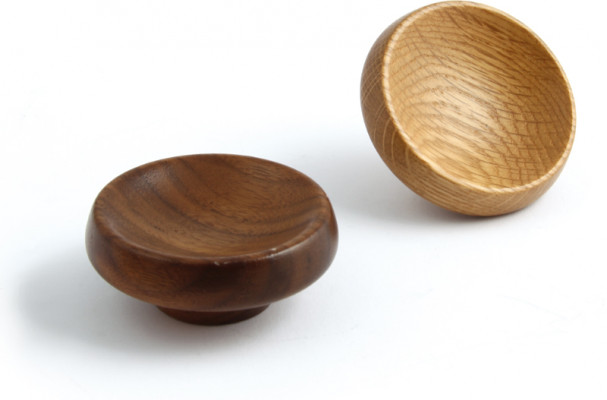 Knob, wood, unfinished/lacquered › 40-67 mm, cadogan, oak unfinished, › 67 mm