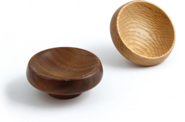 Knob, wood, unfinished/lacquered ø 40-67 mm, cadogan, oak unfinished, ø 67 mm