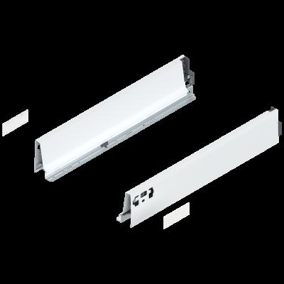 ANTARO drawer side, height M (86 mm), NL=450 mm, left, silk white