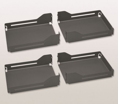 PEGASUS LIBELL clip on shelf x4, for pull down wall cabinets CW=900 mm, PEKA, anthracite