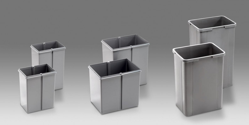 Waste bin for Pullboy Z, 26 litre, WESCO, grey