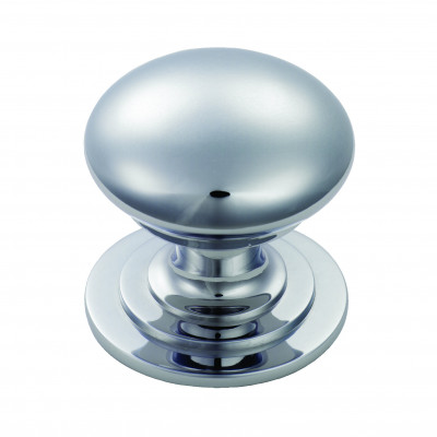 Victorian knob (one piece), Ø 25 mm, polished chrome