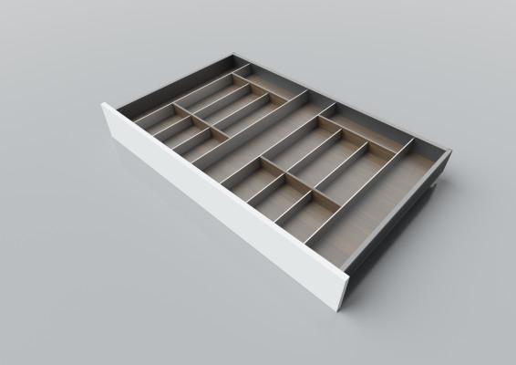 Cutlery divider for LEGRABOX/TA'OR C=950-1200 mm, NL=600 mm, walnut