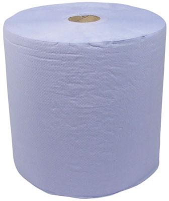 Paper wipe roll, for floorst&, 380 m, blue