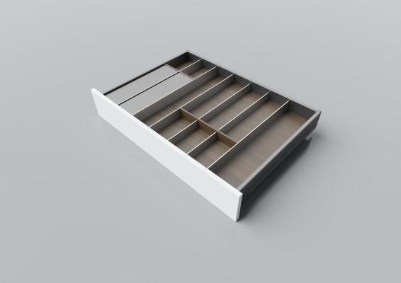Cutlery divider for LEGRABOX/TA'OR C=750-950 mm, NL=550 mm, walnut