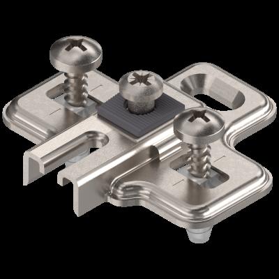 MODUL mounting plate, cruciform, 0mm, FRIDGE mounting, nickel