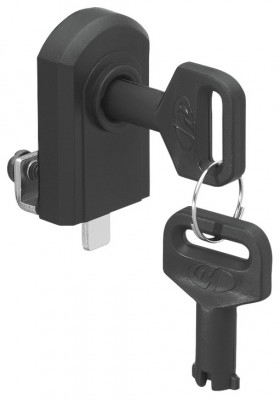 Glass door lock, no drilling required, closure travel: 180ø, black