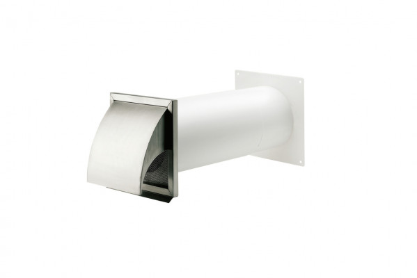 Wall vent system, stainless steel, with hood, system 125/150, system 150, tube › 150 mm