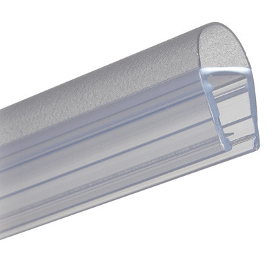 Shower seal, bulb seal, L=2010 mm, glass 6-8 mm thick, transparent