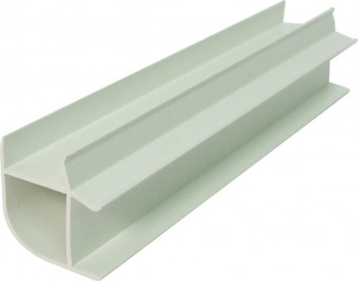 Plinth connecting profile, 150 mm high, for 18 mm thick plinth panels, white