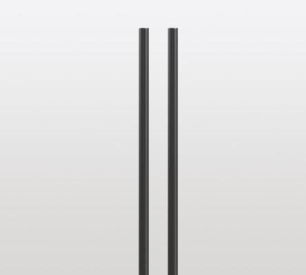 Cover profile for PECASA wall profile, L=2200mm PEKA, black