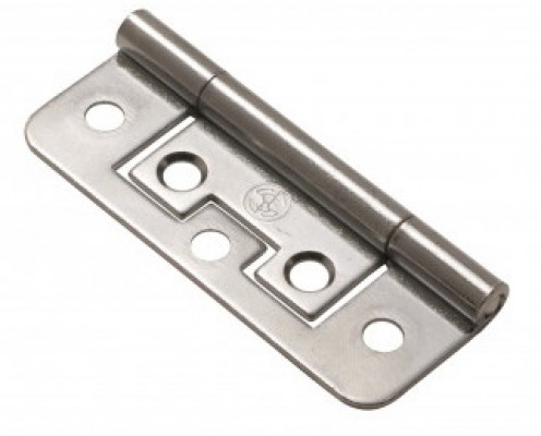 Flush hinge, 38 mm, brass