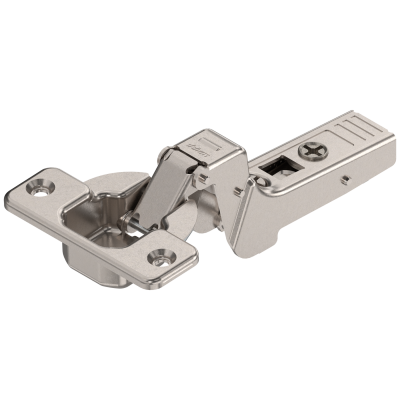 CLIP top profile hinge 95°, INSET applications, unsprung, 18 mm, boss: SCREW-ON, nickel