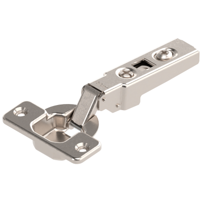 CLIP hinge 100°, OVERLAY, boss: SCREW-ON, nickel