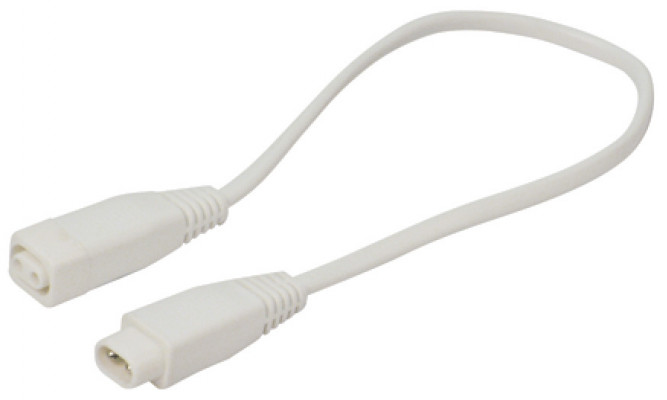Interconnecting lead, L=2000 mm, for use with T4 mini fluorescent strip lights, white
