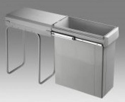 Big bio waste bin, CW=300mm, 40 litre, single recycler, WESCO, grey