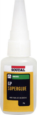 High strength adhesive, geneRAL purpose, bottle 20 g, gp superglue, clear