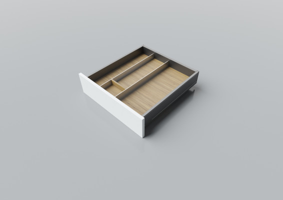 Cutlery divider for LEGRABOX/TA'OR C=500-550 mm, NL=500 mm, oak