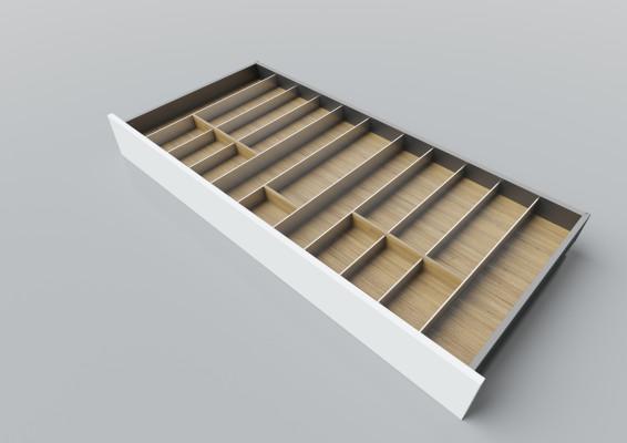 Cutlery divider for LEGRABOX/TA'OR C=1200 mm, NL=550 mm, oak