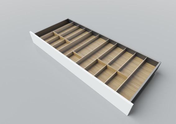 Cutlery divider for LEGRABOX/TA'OR C=1200 mm, NL=500 mm, oak